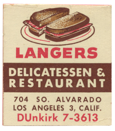langers-1955-matchbook