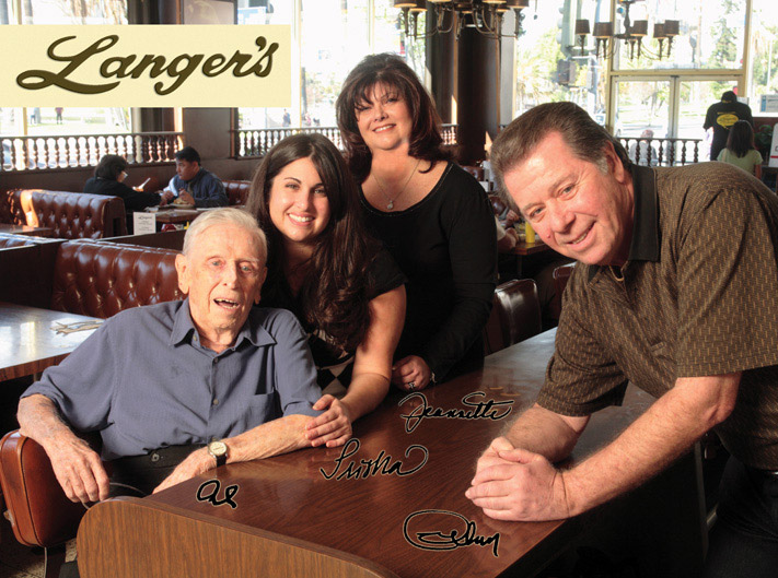 The Langer Family: Al, Trisha, Jeannette and Norm, in 2007.