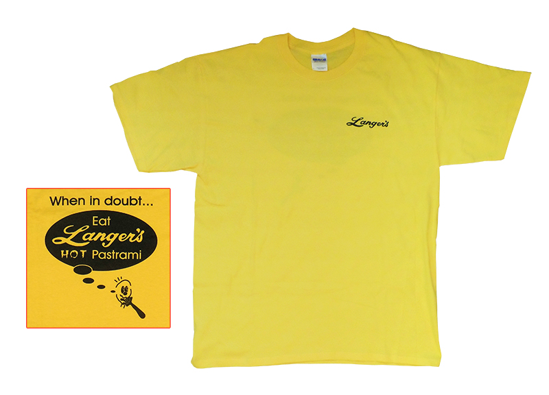 Langer's Shirt (Gold with Black)