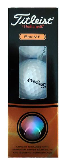 Langer's Titleist Pro V1 Golf Balls (Sleeve)