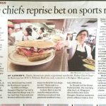 newspaper article entitled Police chiefs reprise bet on sports rivalry
