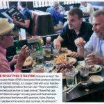 Paul Reiser, Norman Lear and Phil Rosenthal eating at Langer's Deli