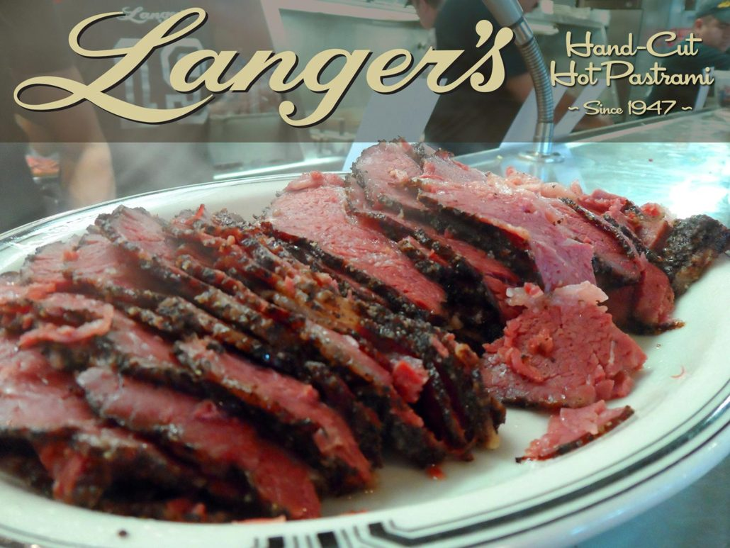 Langer's hand cut hot pastrami since 1947