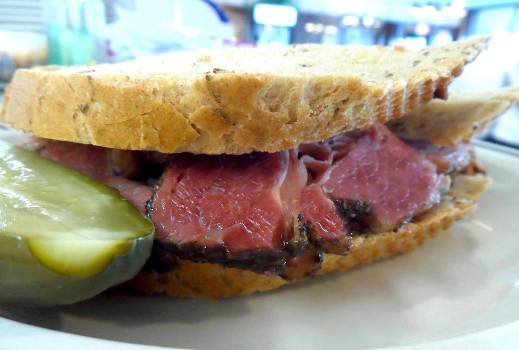 Langer's Deli pastrami sandwich