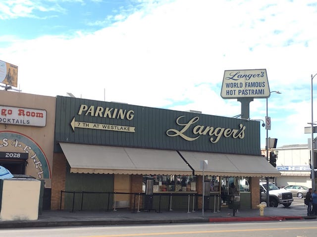 Langer's Deli storefront from the street