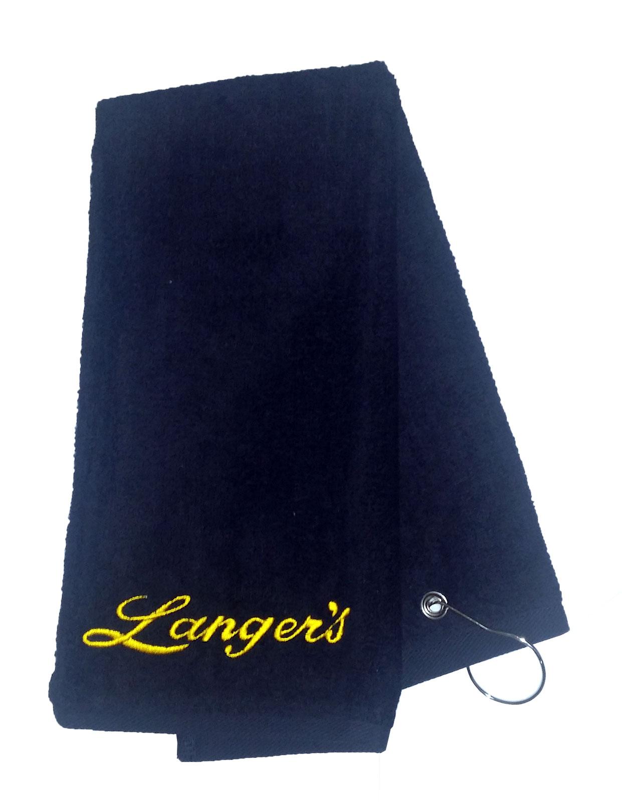 Langer's embroidered golf towel