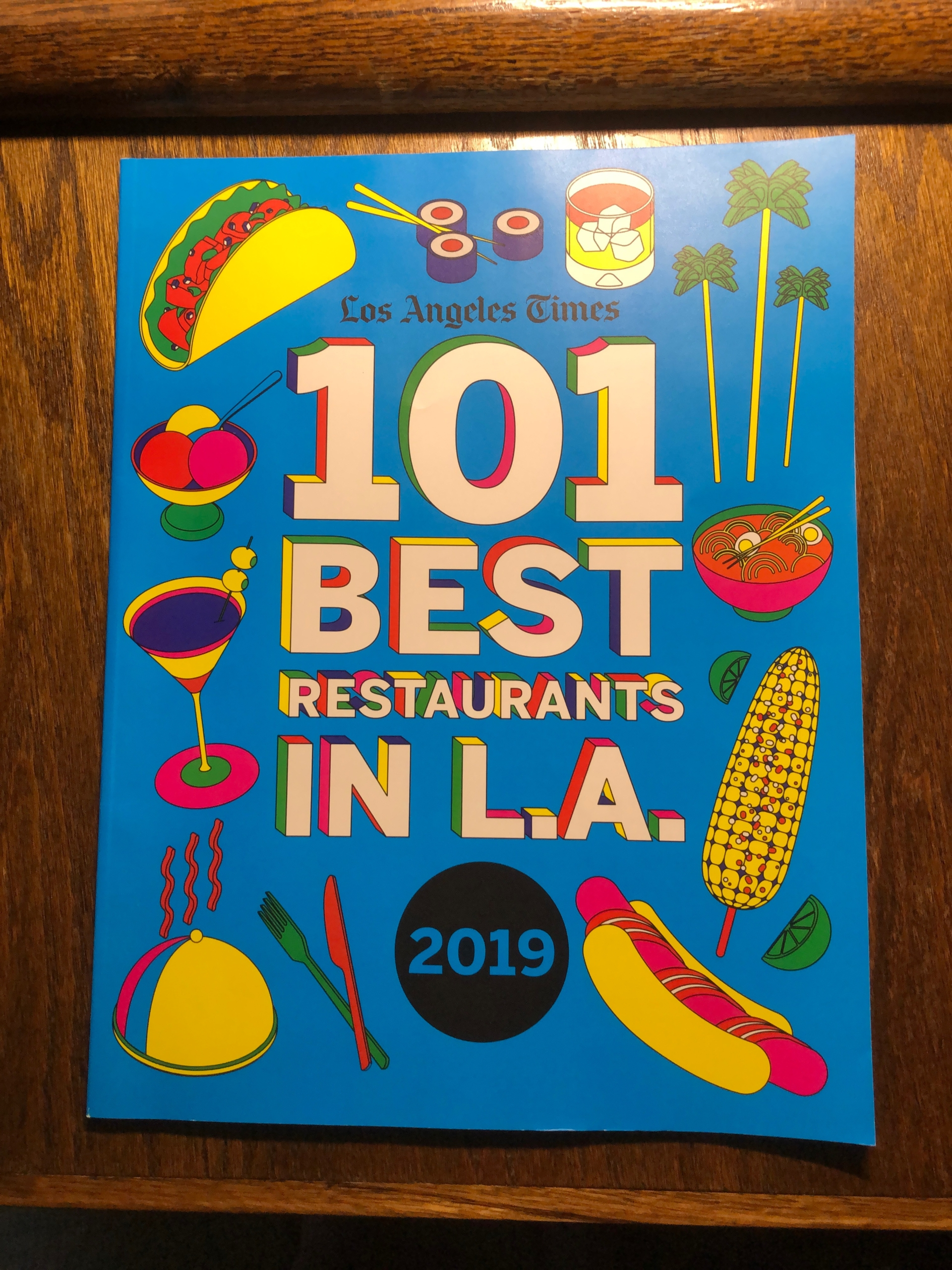 cover of publication called 101 Best Restaurants in LA