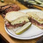 Eater's image of a #19 sandwich on a plate