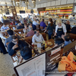 A view of Langer's Deli's interior on a busy day